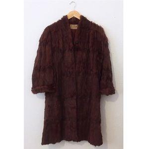 Vintage Real Fur Long Coat Made in San Francisco
